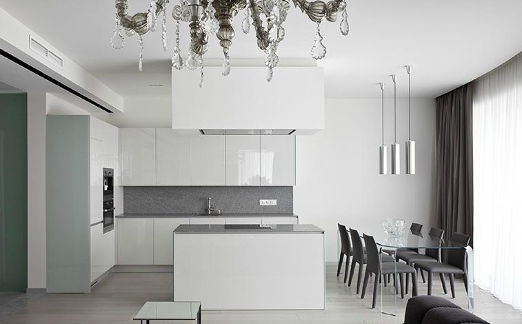 Белоснежная кухня и минимализм