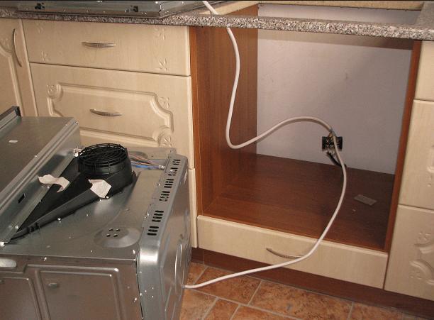 Подключение электрического духового шкафа к электросети