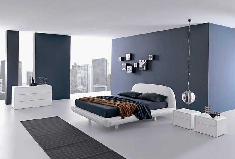 Подбор мебели для спальни хай-тек