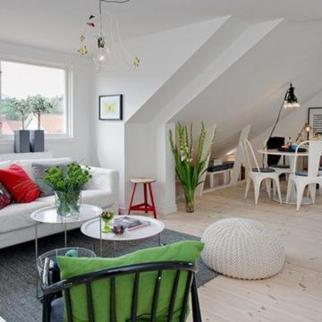 Скандинавский стиль гостиной