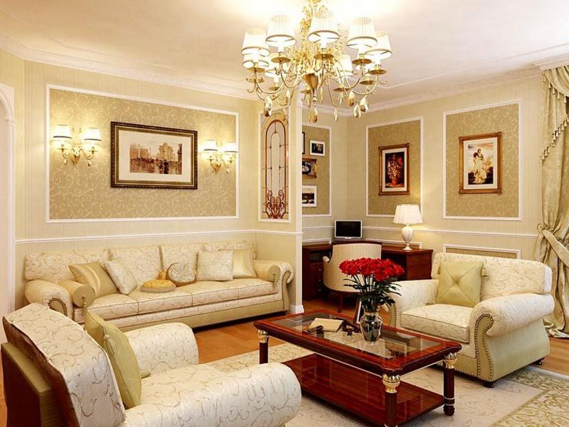Цветовая гамма классического стиля гостиной