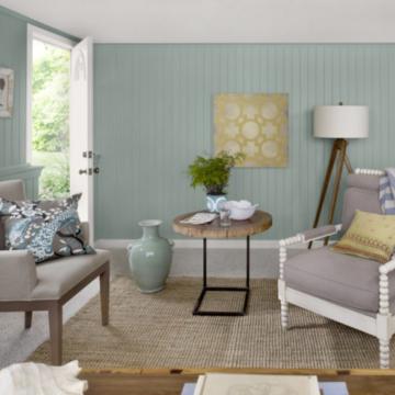 Гостиная в морском стиле: интерьер гостиной в пляжном стиле