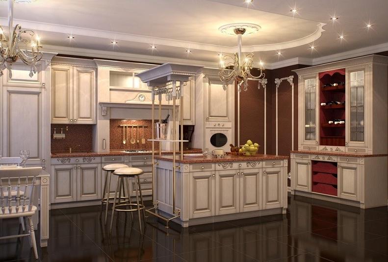 Классический стиль дизайна кухни