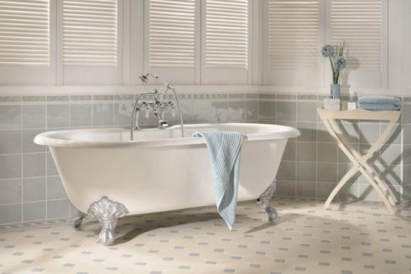 Ванная комната в стиле шебби-шик: особенности выбора плитки