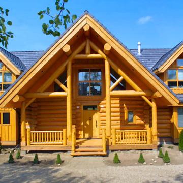 Экологичный дом из дерева