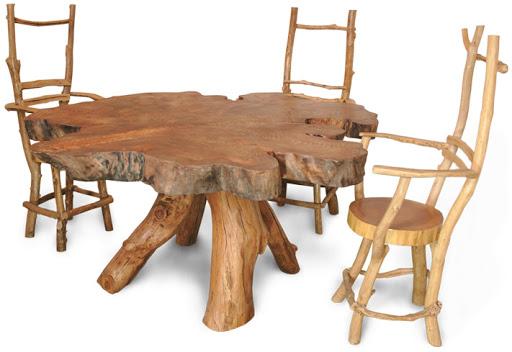 Столы из спилов: уникальное дополнение интерьера
